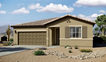 Exterior of the Arlington floor plan in the Linda Vista Heights community