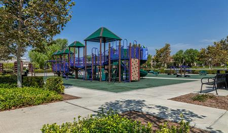 Community park at Heirloom at the Preserve in southern California