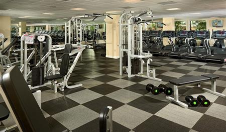 Community fitness center at Heirloom at the Preserve in southern California