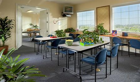 Community craft room at Heirloom at the Preserve in southern California