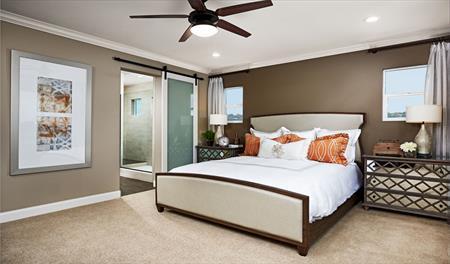 Master bedroom in the Stewart floor plan