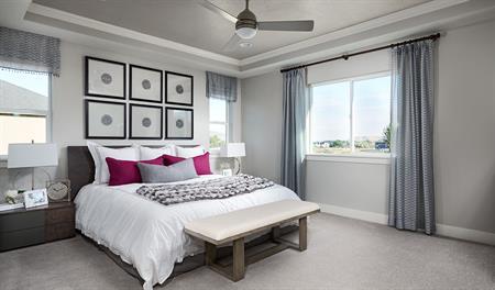 Master Bedroom in the Bedford floor plan