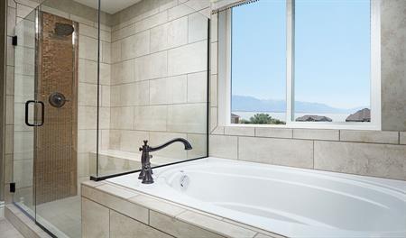 Master bathroom in the Coronado floor plan