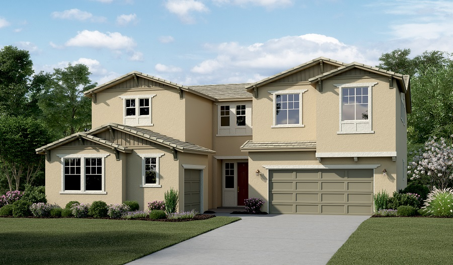 Exterior C of the Perry floor plan
