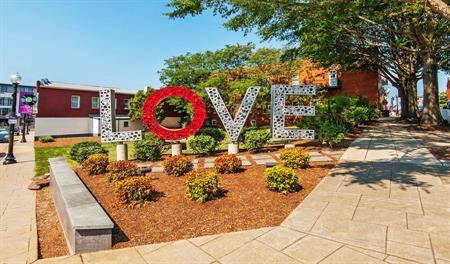 Love sign in Culpeper Nothern Virginia