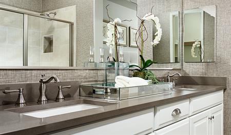 Master bathroom of the Allman floor plan