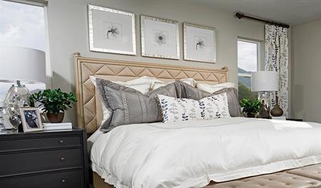 Master bedroom of the Yorktown floor plan