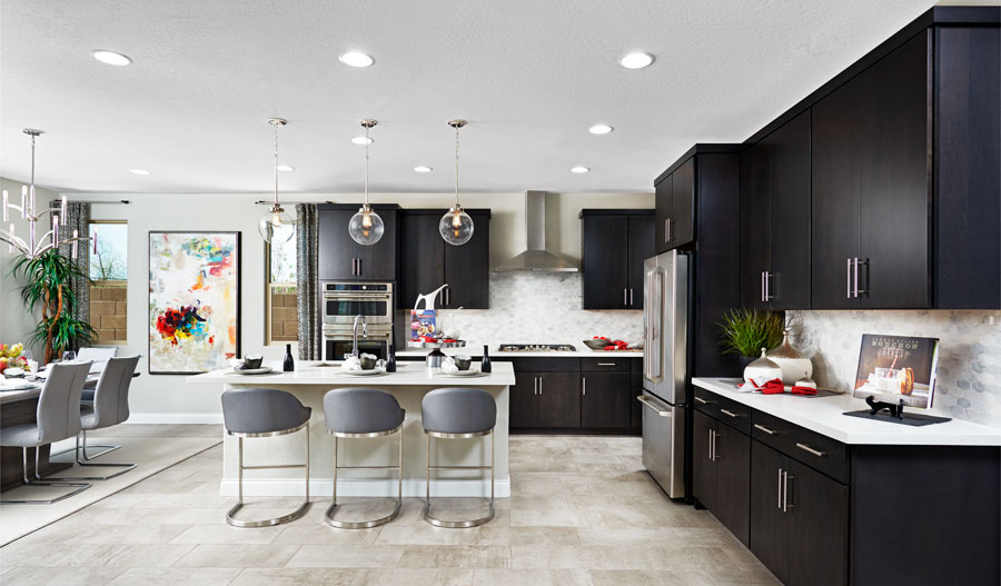 Kitchen and nook of the Beverly floor plan