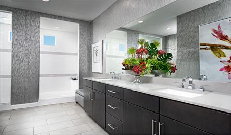 Master bathroom of the Beverly floor plan