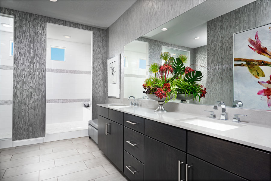 Master bathroom of the Beverly floor plan