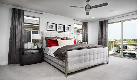 Master bedroom of the Beverly floor plan