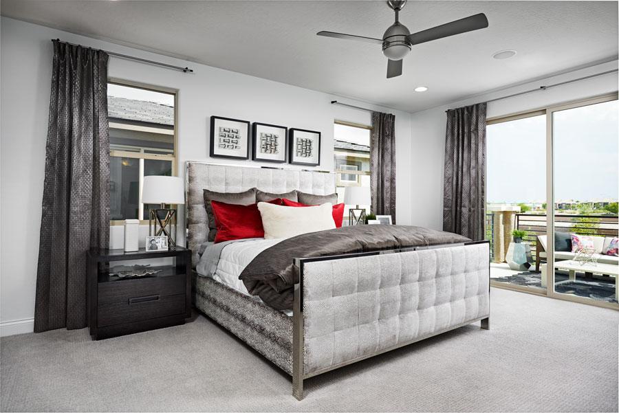 Master bedroom of the Beverly floor plan