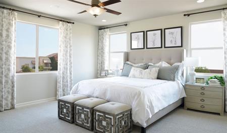 Master bedroom of the Bradford floor plan