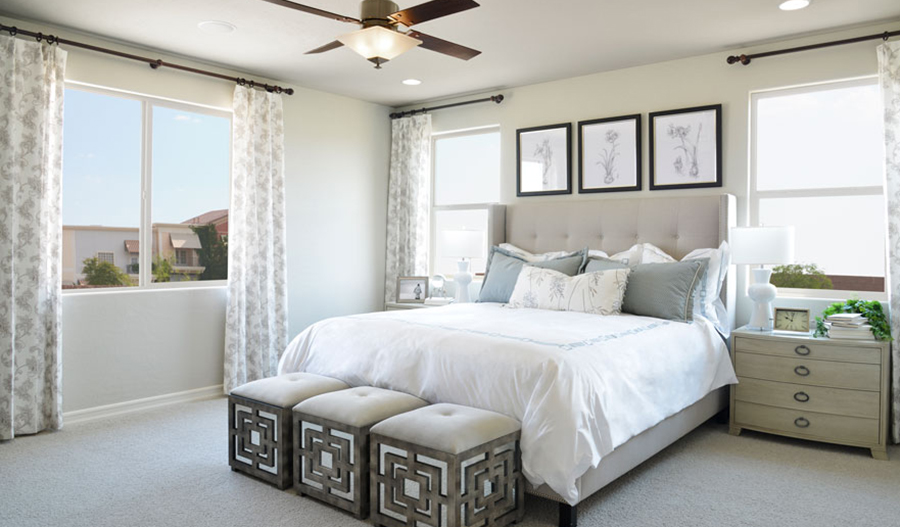 Master bedroom of the Bradford floor plan