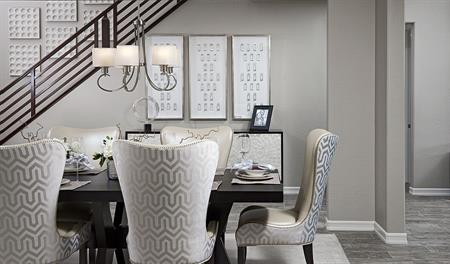 Dining room of the Desiree floor plan