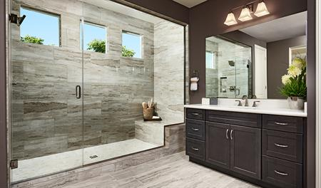 Master bath in the Julia floor plan