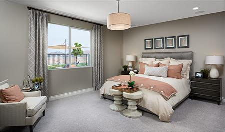 Master bedroom in the Julia floor plan