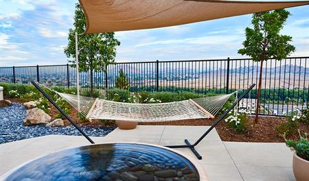 Outdoor patio in the Julia floor plan