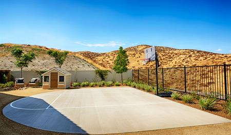 Basketball court in the Julia floor plan