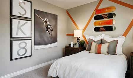 Bedroom in the Julia floor plan