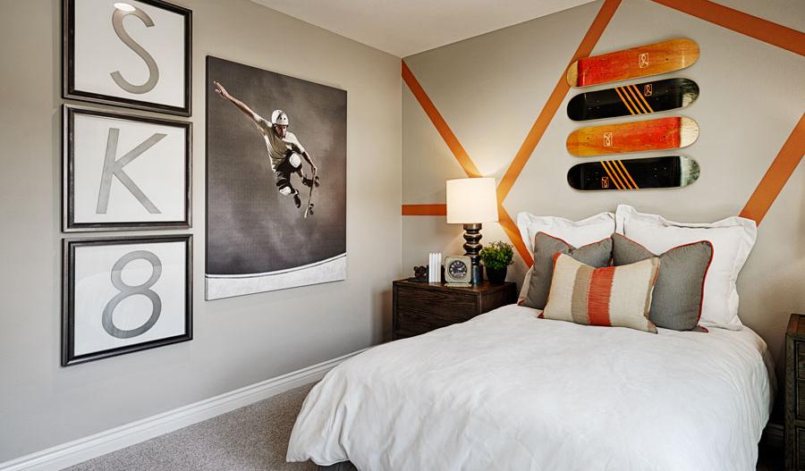 Bedroom in the Julia floor plan