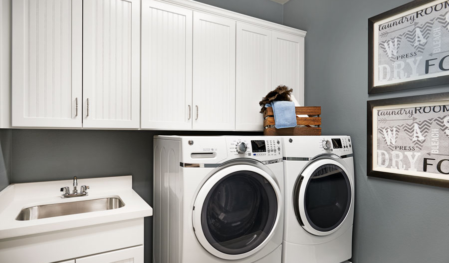 Laundry room in the Paige floor plan