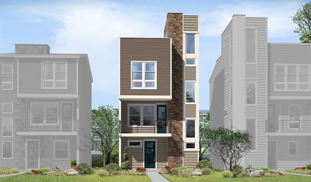 Soho floor plan rendering exterior elevation
