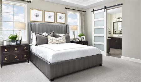 Master bedroom in the Daley floor plan