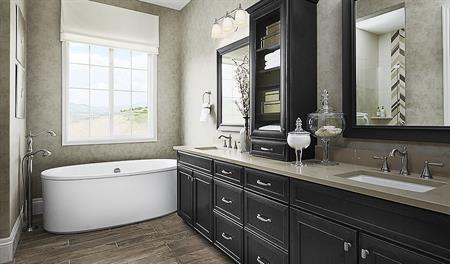 Master bathroom in the Holbrook floor plan