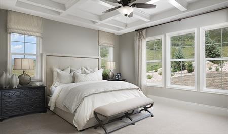 Master bedroom in the Holbrook floor plan