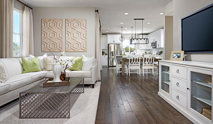 Great room in the Elena floor plan