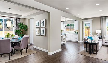 Great room of the Jefferson floor plan