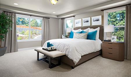 Master bedroom in the Jefferson floor plan
