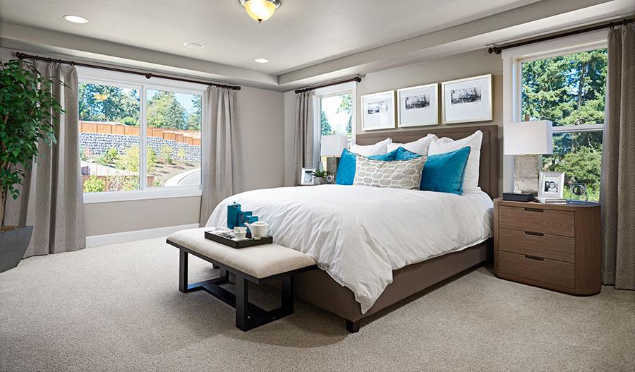 Owner's bedroom in the Jefferson floor plan