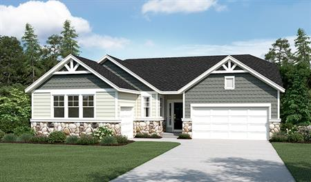 Exterior B of the Daniel floor plan with 3-car garage