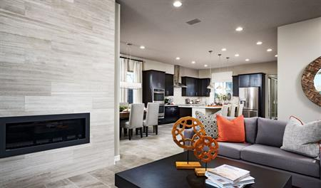 Great room in the Arabelle floor plan