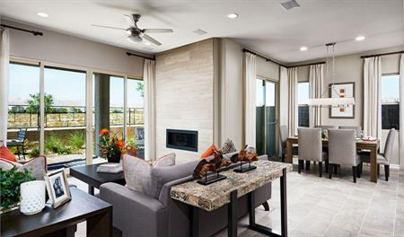 Family room and nook of the Arabelle floor plan