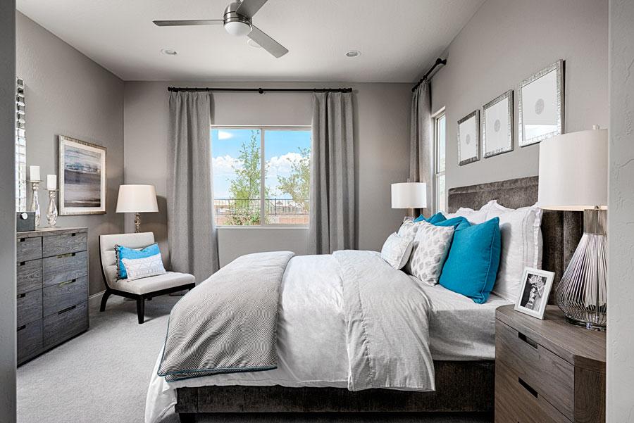 Master bedroom in the Arabelle floor plan