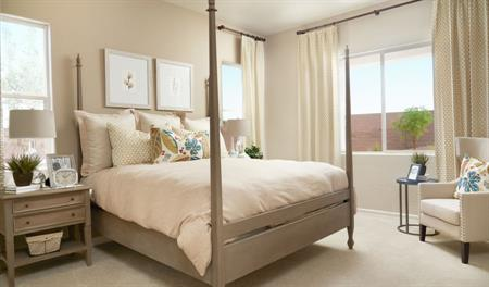 Master bedroom in the Stephen floor plan