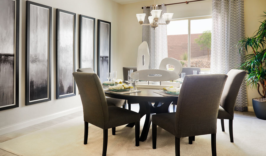 Dining room in the Paige floor plan