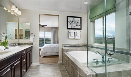 Master bath in the Belle floor plan