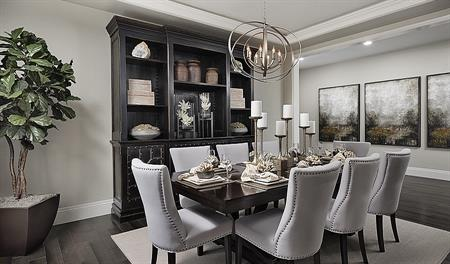 Dining room in the Holbrook floor plan