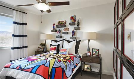 Bedroom in the Lawson floor plan