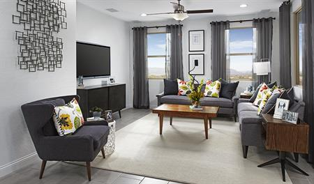 Family room in the Lawson floor plan