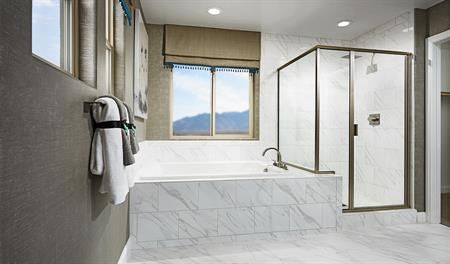 Master bathroom in the Lawson floor plan
