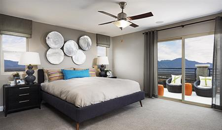 Master bedroom in the Lawson floor plan