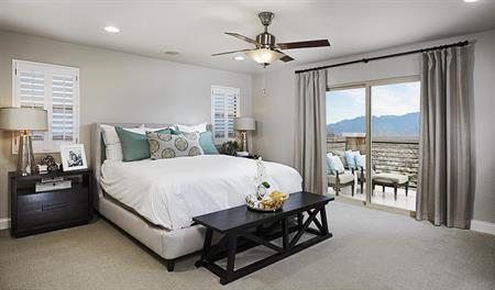 Master bedroom in the Sadie floor plan