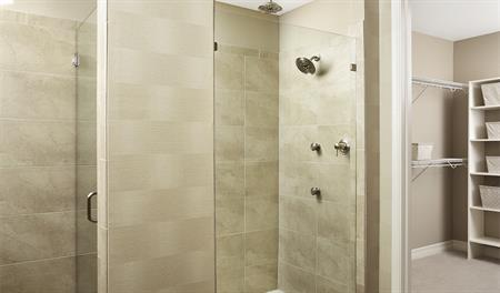 Master bath in the Dillon II floor plan