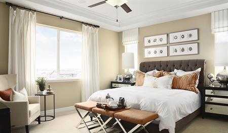 Master bedroom in the Dillon II floor plan