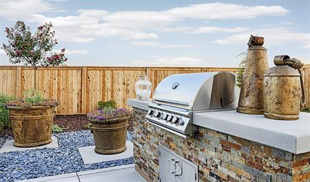 Outdoor patio in the Andrea floor plan